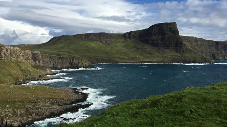 photo, image, northern coast, isle of skye without a car