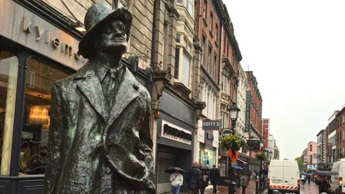 photo, image, james joyce statue, literary dublin