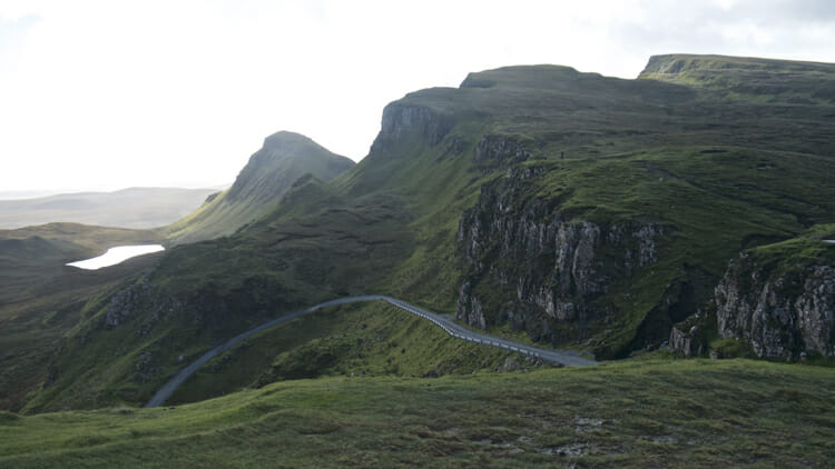 photo, image, road to quiraing, isle of skye without a car