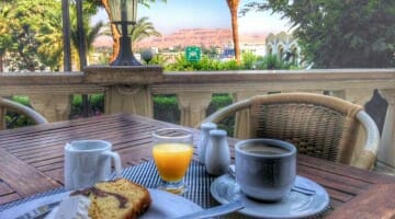 photo, image, breakfast for one, luxor, egypt