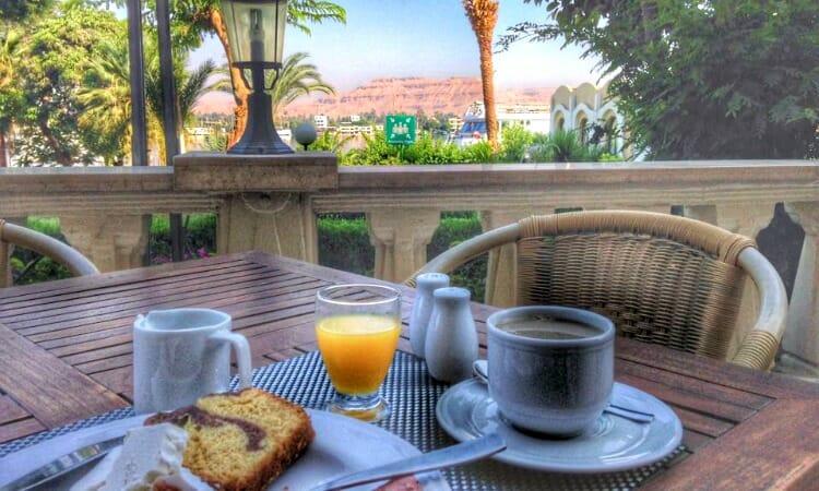 photo, image, breakfast for one, luxor, egypt
