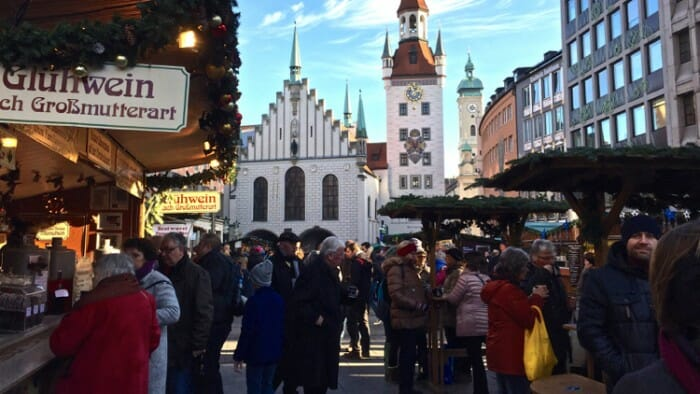 The Marienplatz Market.