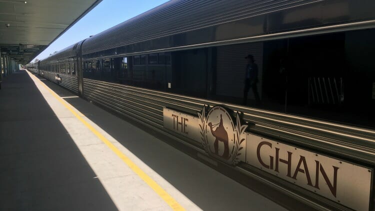 photo, image, train, solo aboard the ghan