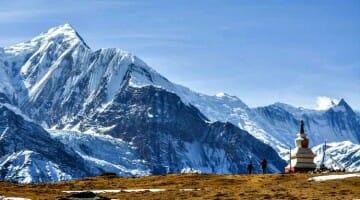 photo, image, manang, nepal, annapurna mountains