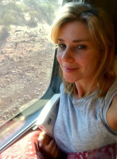 photo, image, traveler on train, transformed on the ghan