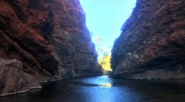 photo, image, simpsons gap, water, the ghan, australia