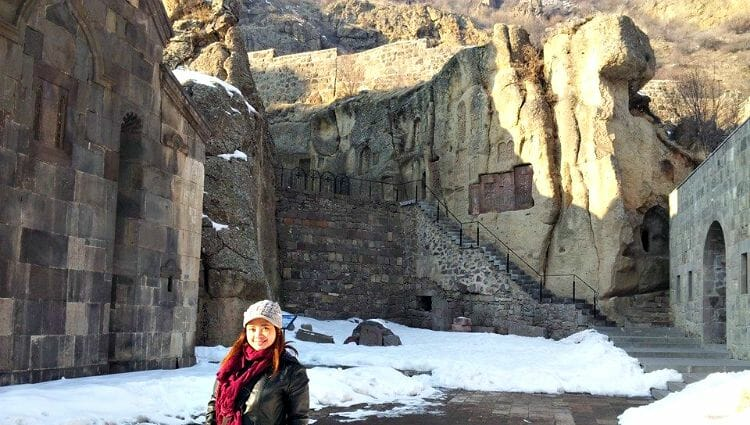 photo, image, geghard monastery, armenia, travel solo to celebrate