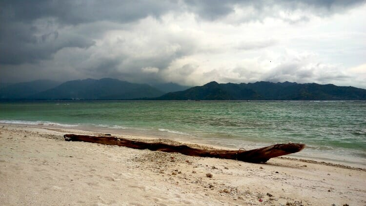 photo, image, beach, gili air, indonesia