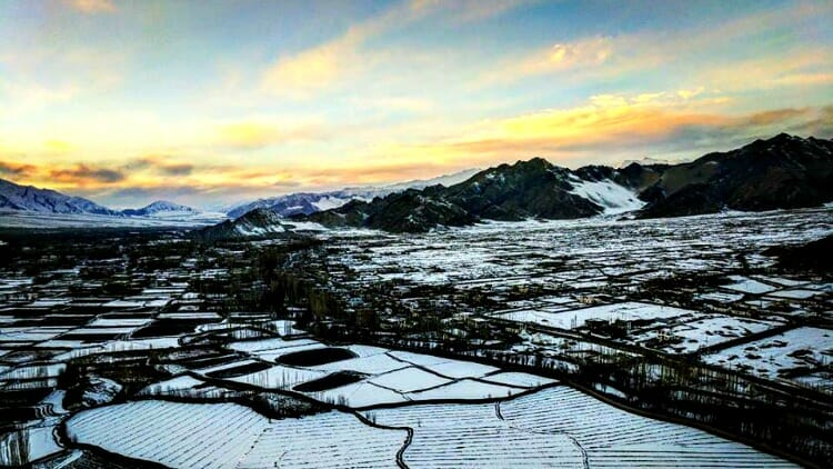 photo, image, landscape, snow, leh, india