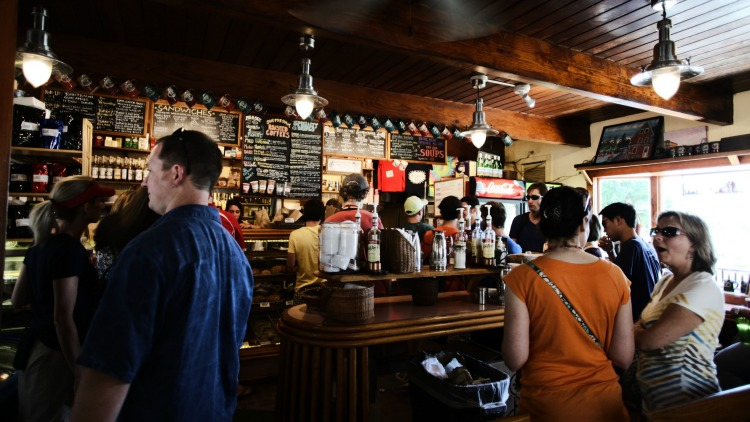 coffee shop, solo travel safety principles