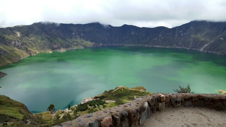 photo, image, crater lake, quilotoa, quito, ecuador