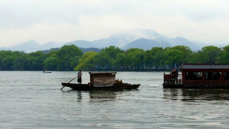 photo, image, west lake, hangzhou, china