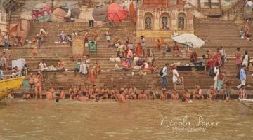 photo, image, ghats, ganges, varanasi