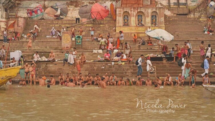 photo, image, ghats of varanasi, india