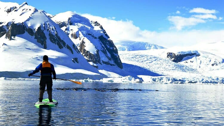 photo, image, exploring antarctica, SUP