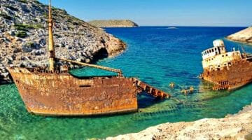 photo, image, shipwreck, navagio beach, amorgos, greece