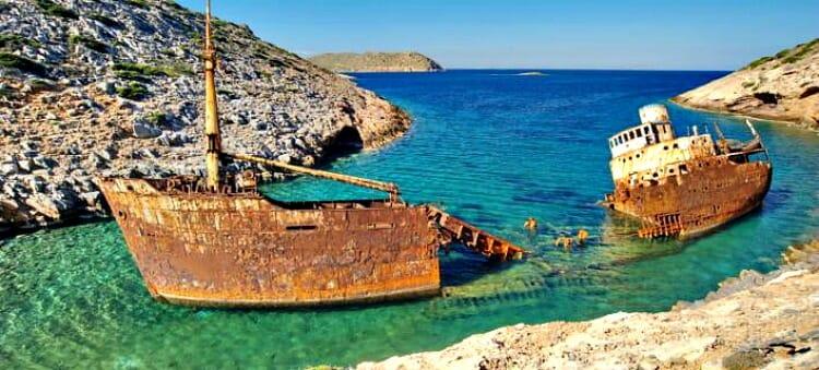 photo, image, shipwreck, navagio beach, amorgos, greece