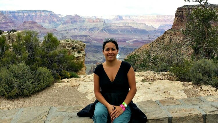 photo, image, woman at grand canyon, first solo trip