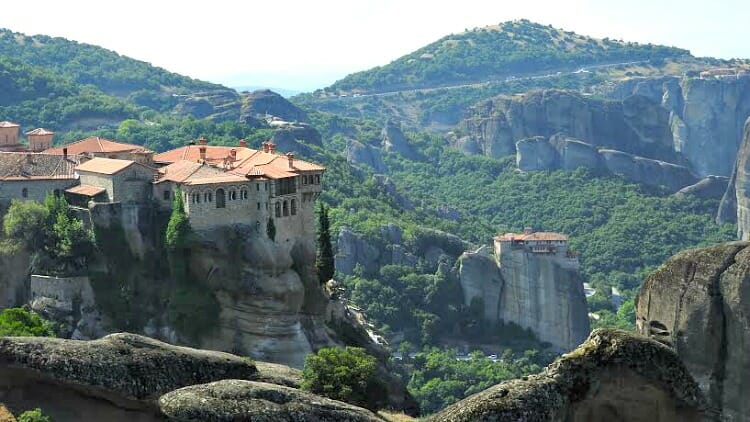 photo, image, monasteries, meteora, greece