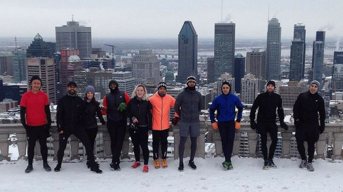 photo, image, mont royal, run crew, winter solo travel