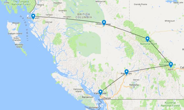 western Canada itinerary