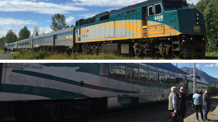 British Columbia by Train compare VIA Rail and the Rocky Mountaineer