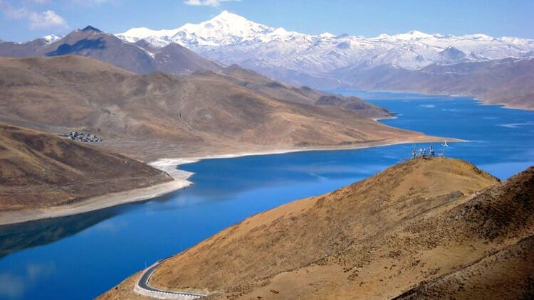 photo, image, yamdrok lake, tibet