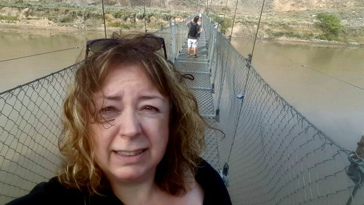 photo, image, star mine suspension bridge, canadian badlands