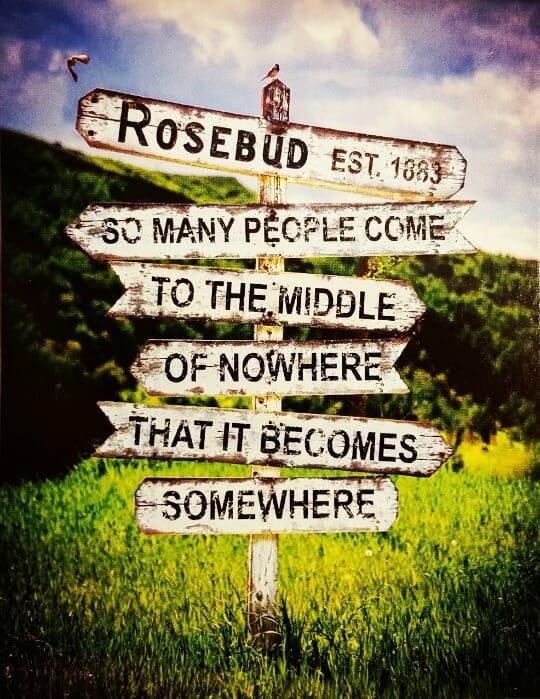 photo, image, postcard, rosebud, canadian badlands