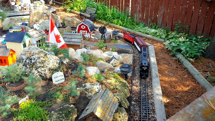 photo, image, model train, rosebud, canadian badlands