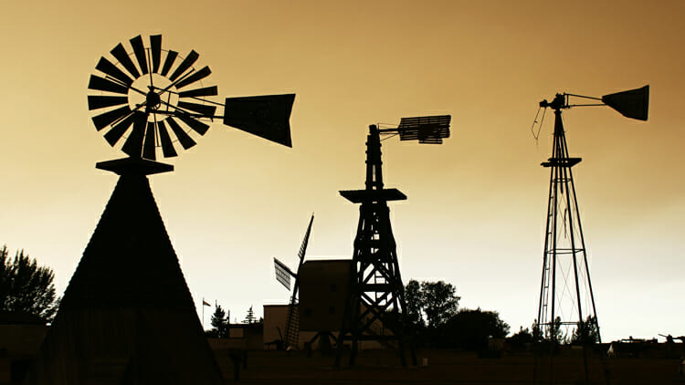 photo, image, windmills, etzikom, western canada road trip