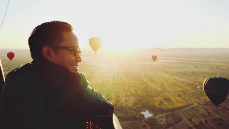 photo, image, hot air balloon, bagan, myanmar