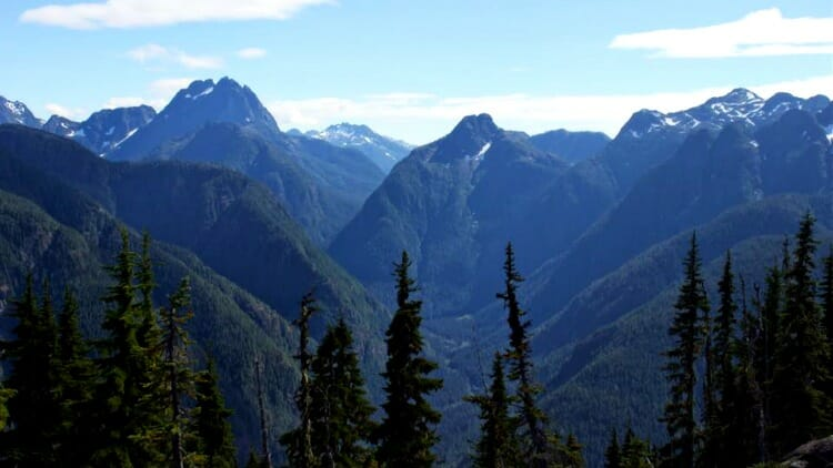 photo, image, mountains, strathcona park, western canada photos