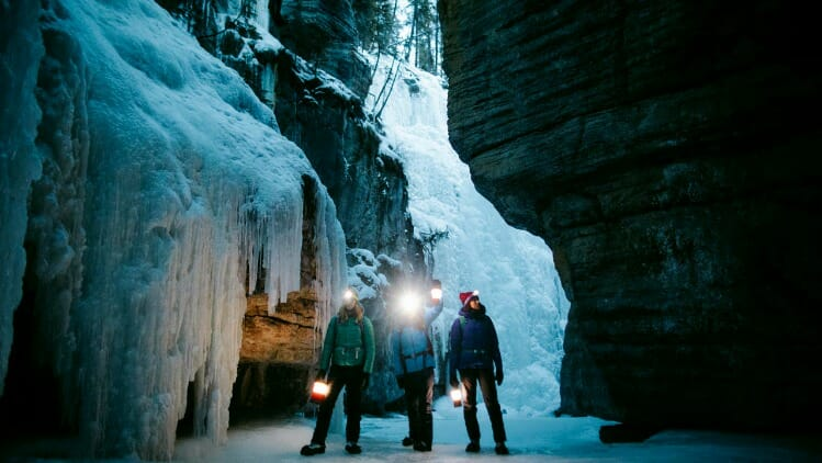 photo, image, ice canyon, adventure travel western canada
