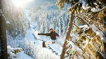 photo, image, zipline, adventure travel in western canada