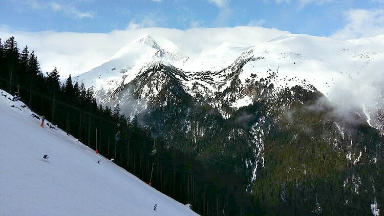 photo, image, black slope, bansko, bulgaria