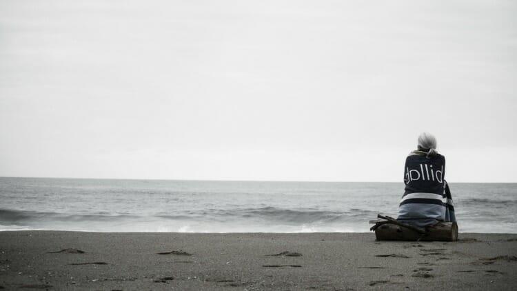photo, image, woman on beach senior solo travel