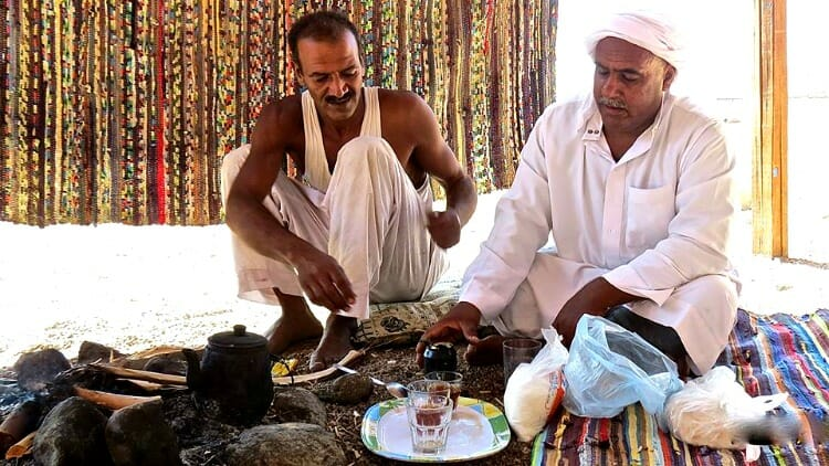 photo, image, bedouins, tea, dahab, egypt