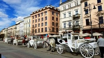 photo, image, horse and carriage, krakow, poland