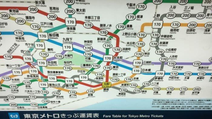 Map of Tokyo Metro