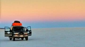 photo, image, sunset, salar de uyuni, bolivia