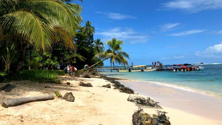 photo, image, playa zapatilla, panama, beach
