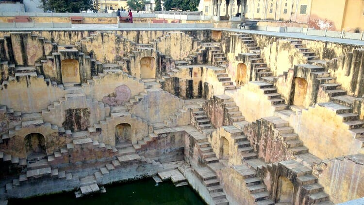 photo, image, stepwell, bundi, rajasthan