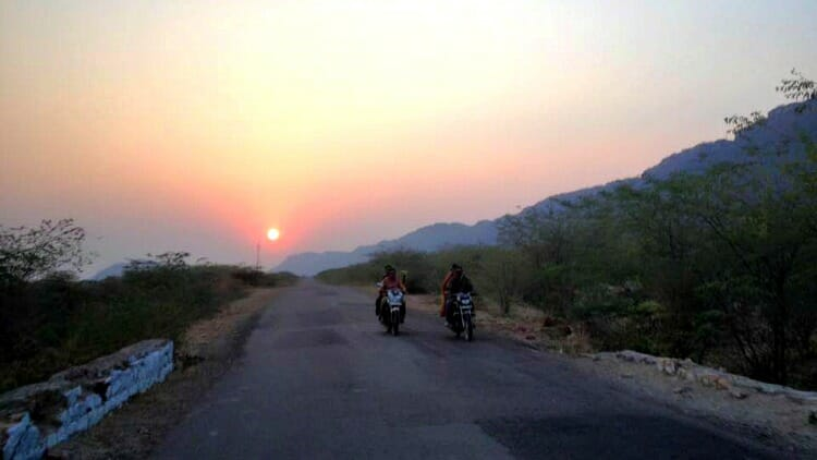 photo, image, sunset, bundi, rajasthan