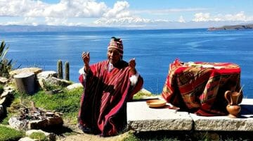 photo, image, shaman, lake titicaca, bolivia