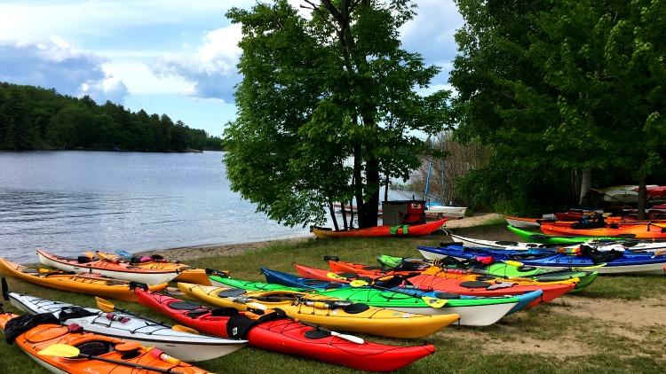 photo, image, kayaks, glamping georgian bay ontario