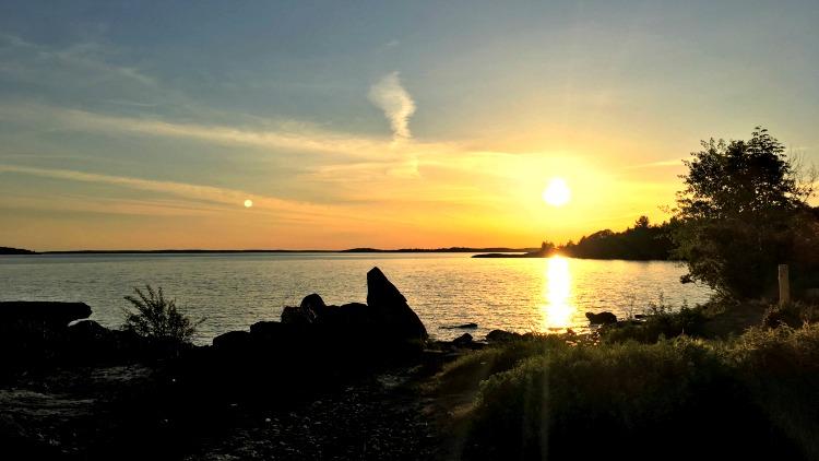 photo, image, sunset, glamping georgian bay ontario