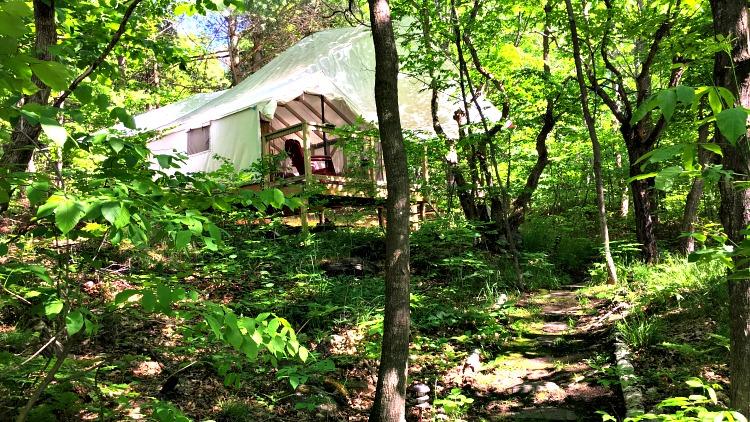 photo, image, tent, harmony outdoor inn, glamping georgian bay ontario