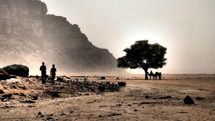 photo, desert, wadi rum, jordan