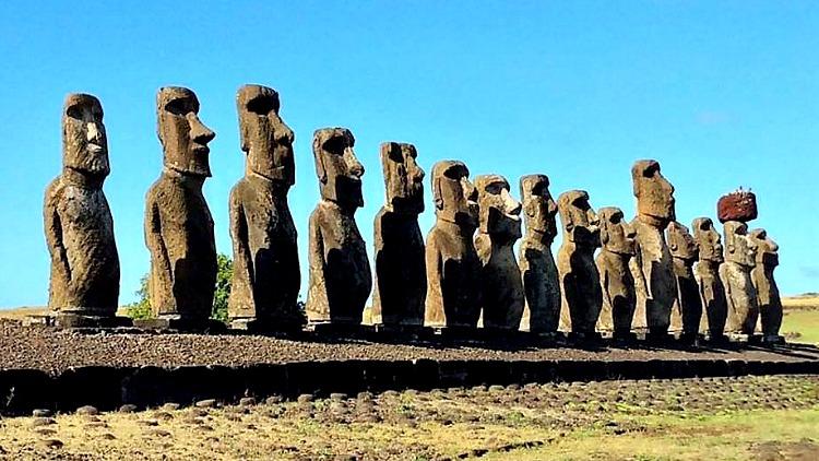 photo, image, moai, rapa nui, chile